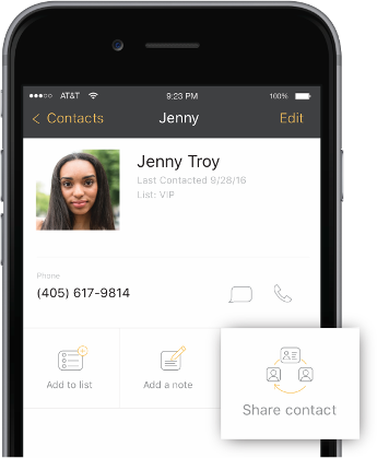 Share business text messages, templates, lists, and contacts with your team