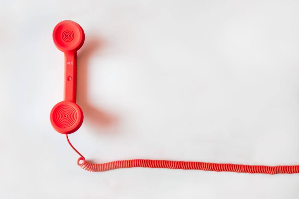 Landline phone.