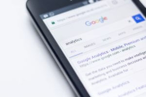Google AdWords results on mobile phone