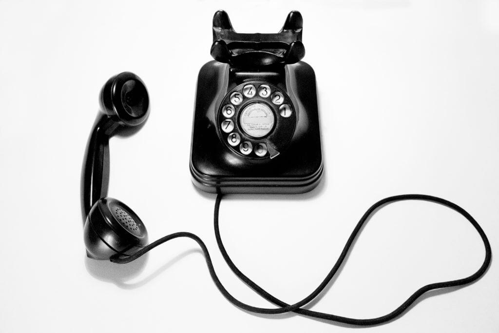 Rotary telephone.