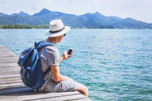 Tourist business texting