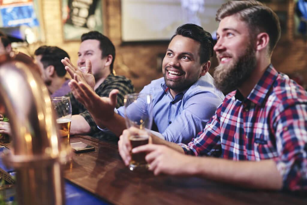 Men watching sports