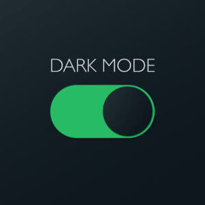Dark Mode switch for business text messaging