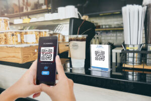 contactless payment in a store using a code