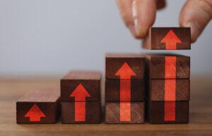 Blocks illustrating SMS strategy leveling up