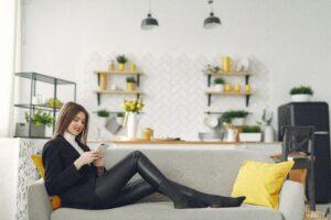 Woman engaging in conversational customer engagement conversation