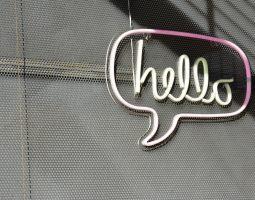 Hello message bubble